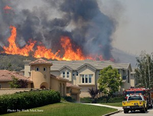 Fire in California are linked to climate change. Source: Fire Engineering